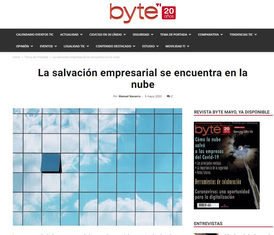 Byte: La salvación empresarial se encuentra en la nube
