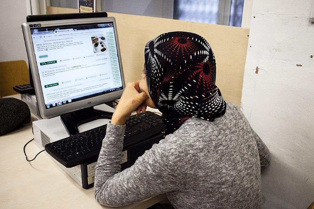 Espacio abierto de búsqueda de trabajo, de Cáritas, candidato a la Mención Festibity Solidaria