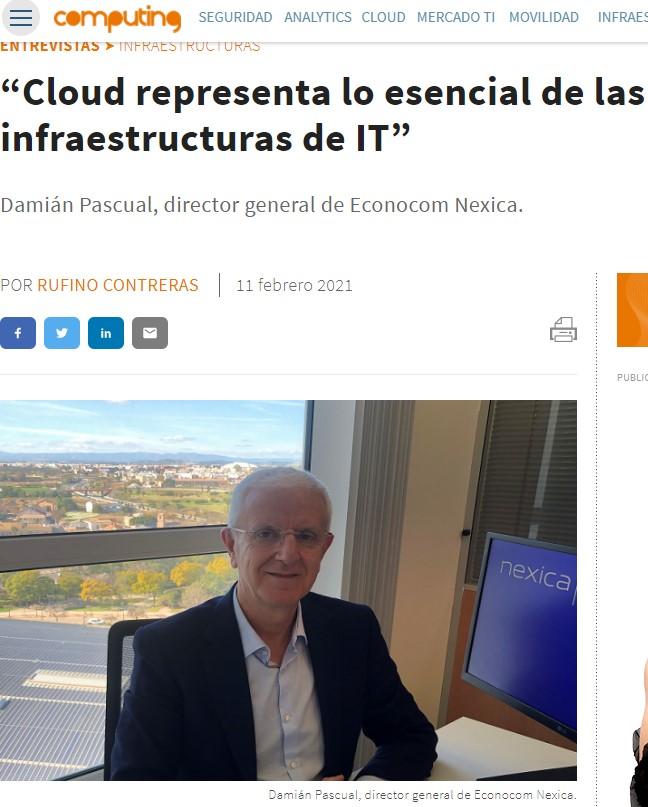 """Computing entrevista Damián Pascual Boixader: """"L'oferta d'Econocom Nexica és oberta"""""""