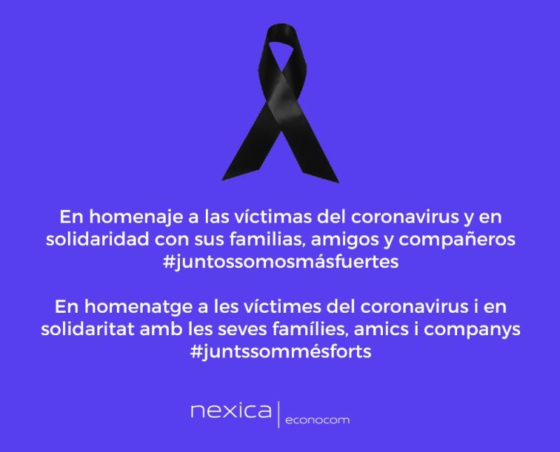 En homenaje a las víctimas del coronavirus y en solidaridad con sus familias, amigos y compañeros #juntossomosmásfuertes #lutonacional #covid19 // En homenatge a les víctimes del coronavirus i en solidaritat amb les seves famílies, amics i companys #juntssommésforts #doloficial #covid19