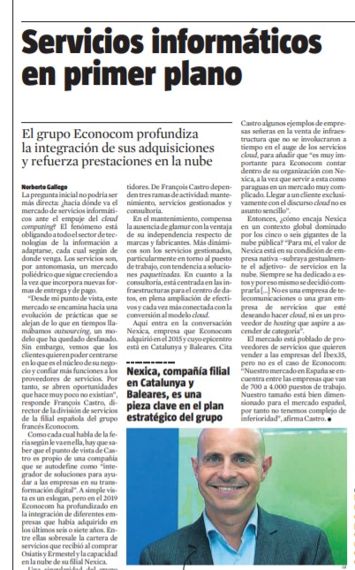 Somos noticias en La Vanguardia