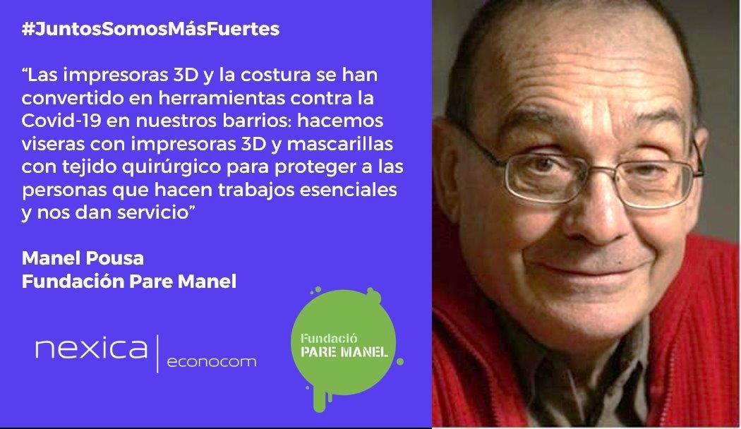 #JuntosSomosMásFuertes: con la Fundación Pare Manel