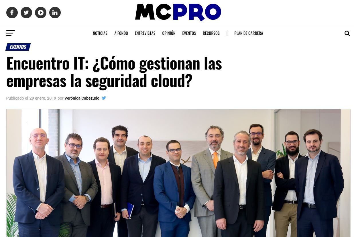 IT Meeting about cloud security
