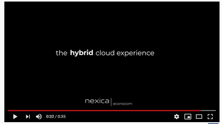 Spot Nexica Econocom: The Hybrid Cloud Experience